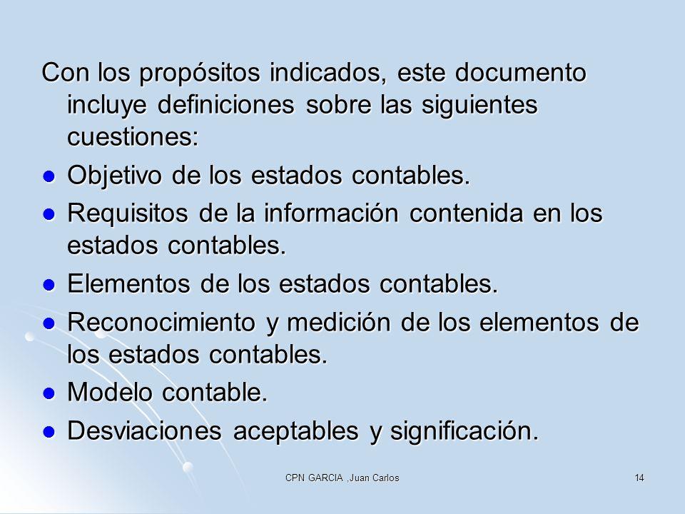 Objetivo de los estados contables.
