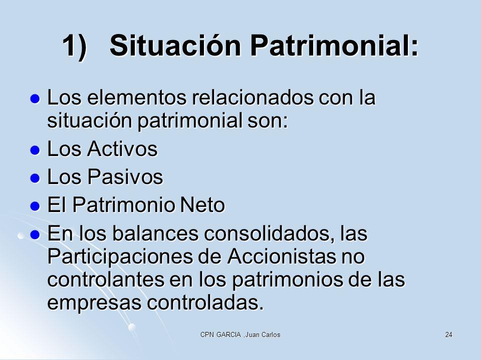1) Situación Patrimonial: