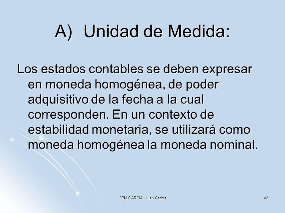 A) Unidad de Medida: