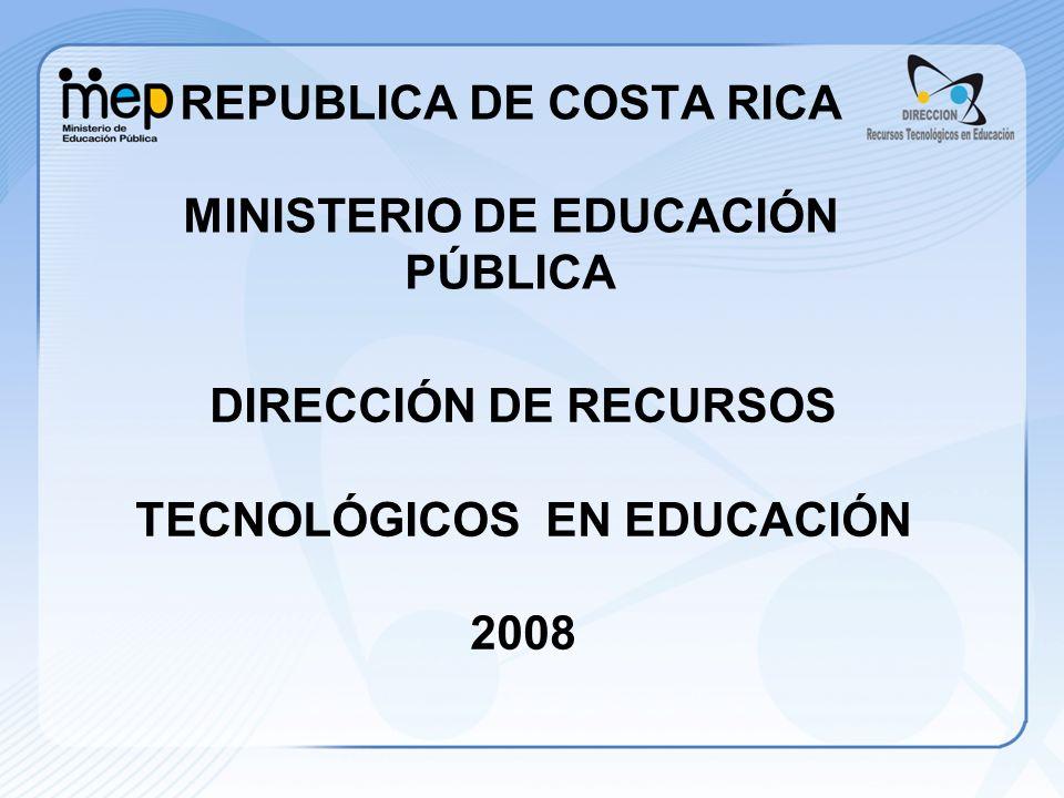 REPUBLICA DE COSTA RICA MINISTERIO DE EDUCACIÓN PÚBLICA