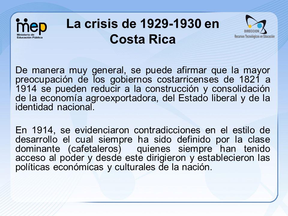 La crisis de 1929-1930 en Costa Rica