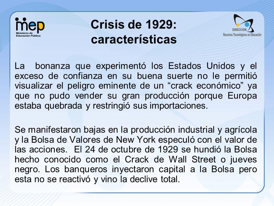 Crisis de 1929: características