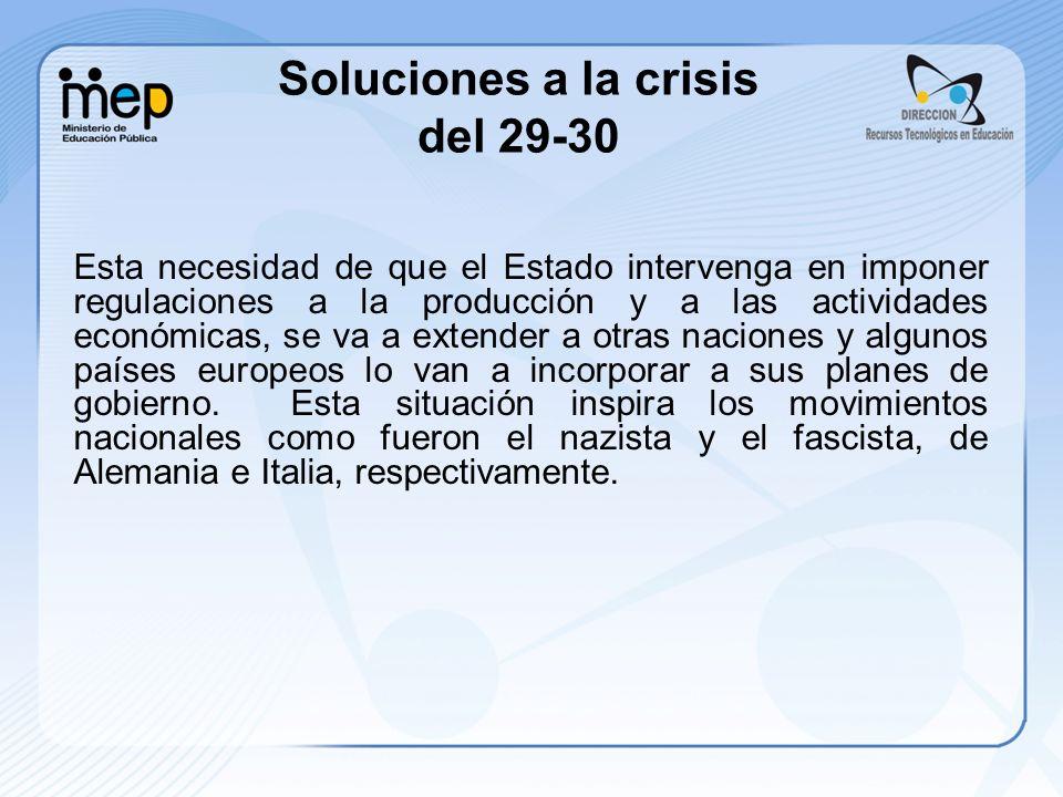 Soluciones a la crisis del 29-30