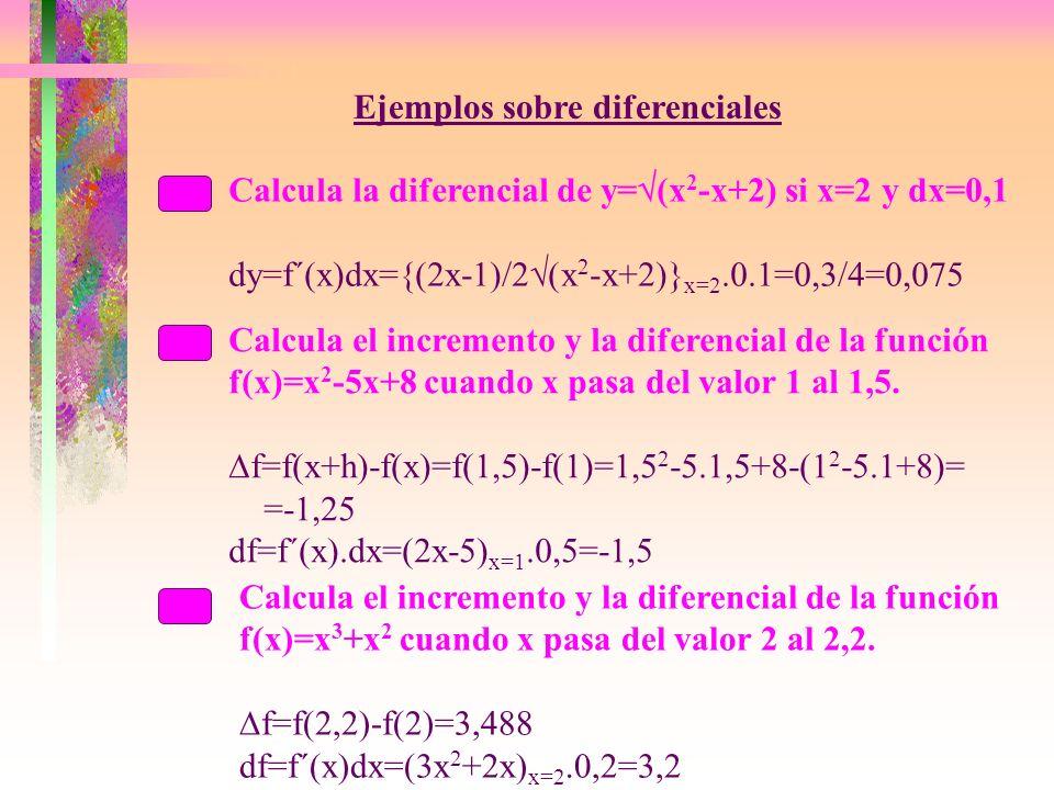 Ejemplos sobre diferenciales