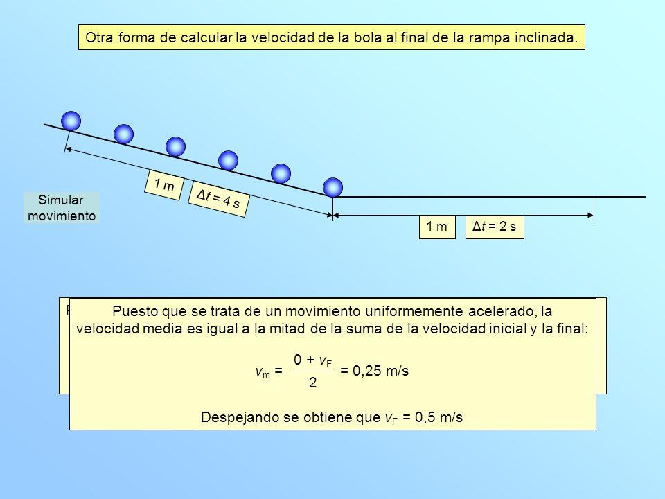 La velocidad media en ese tramo es vm=