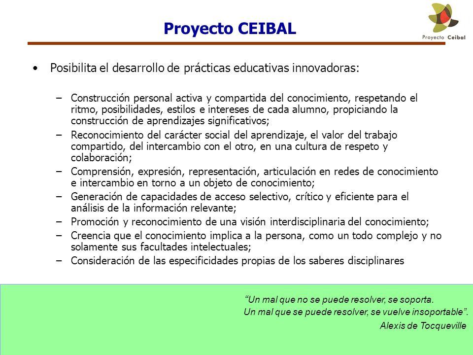 Proyecto CEIBAL Posibilita el desarrollo de prácticas educativas innovadoras: