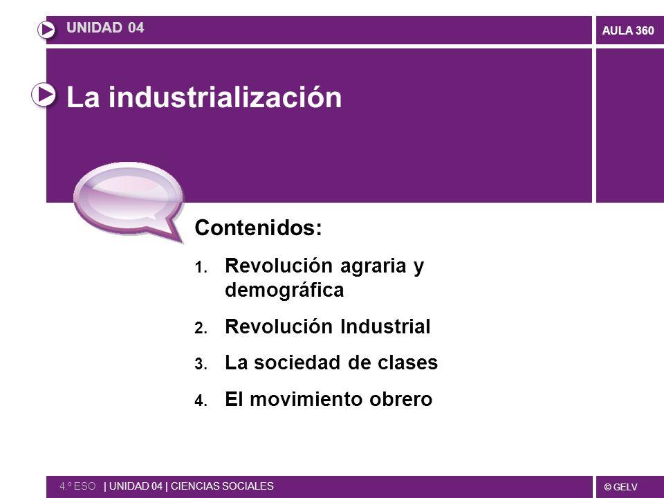 La industrialización Contenidos: Revolución agraria y demográfica