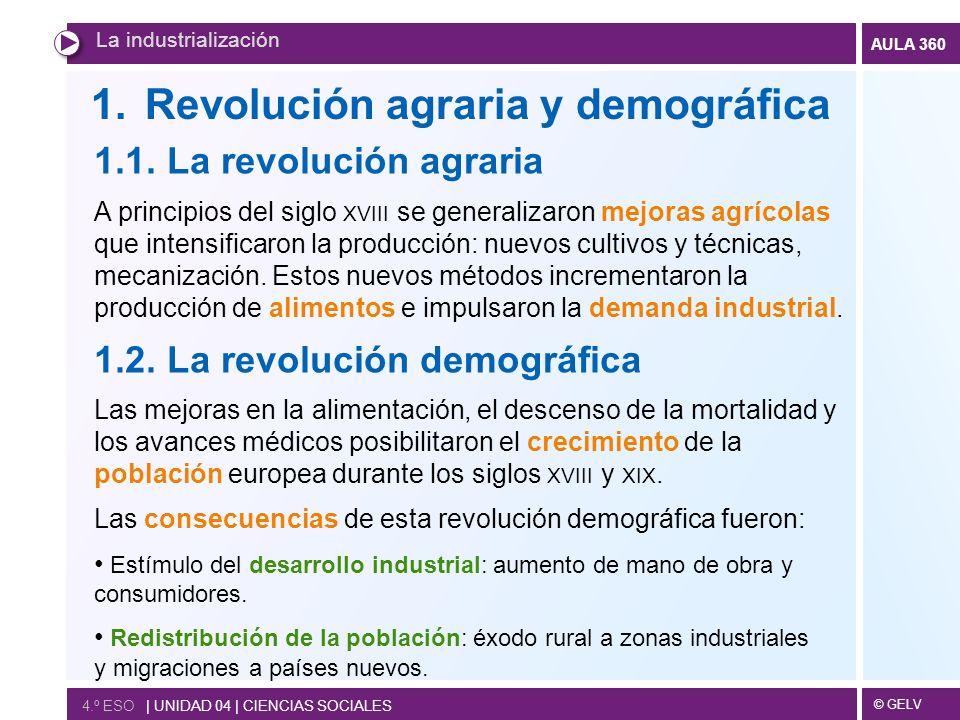 Revolución agraria y demográfica