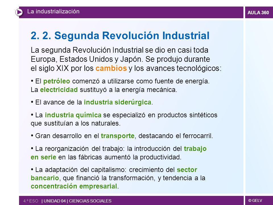 2. 2. Segunda Revolución Industrial