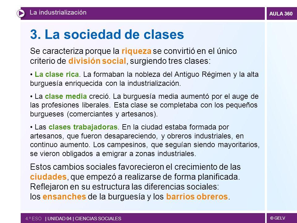 La industrialización 3. La sociedad de clases.