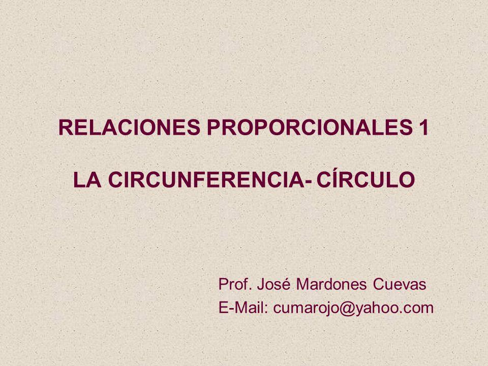 RELACIONES PROPORCIONALES 1 LA CIRCUNFERENCIA- CÍRCULO