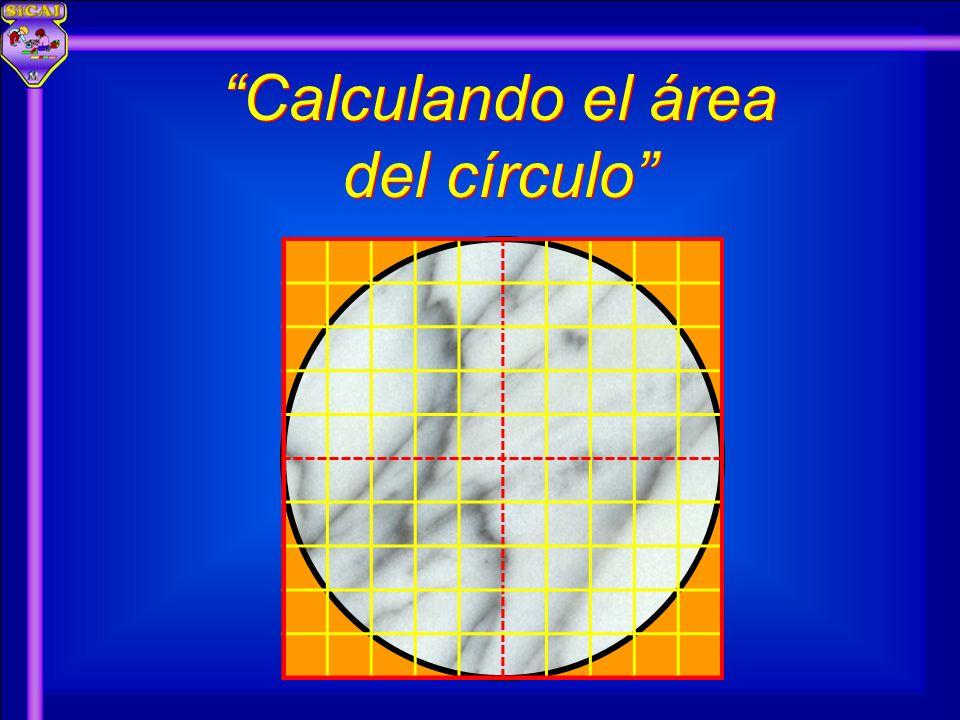 Calculando el área del círculo