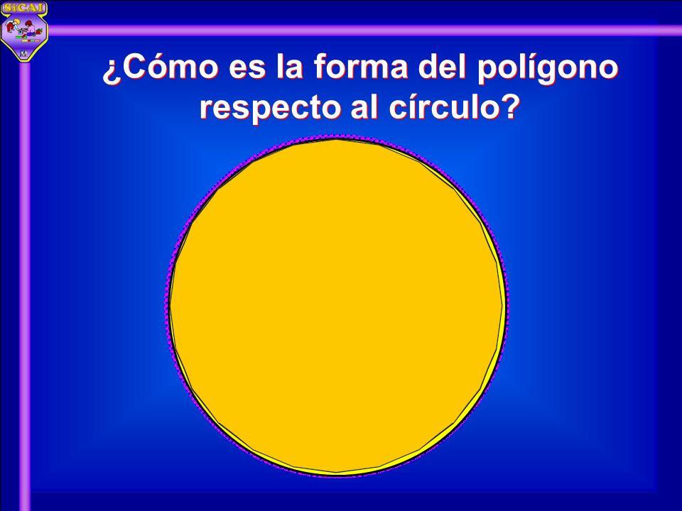 ¿Cómo es la forma del polígono respecto al círculo