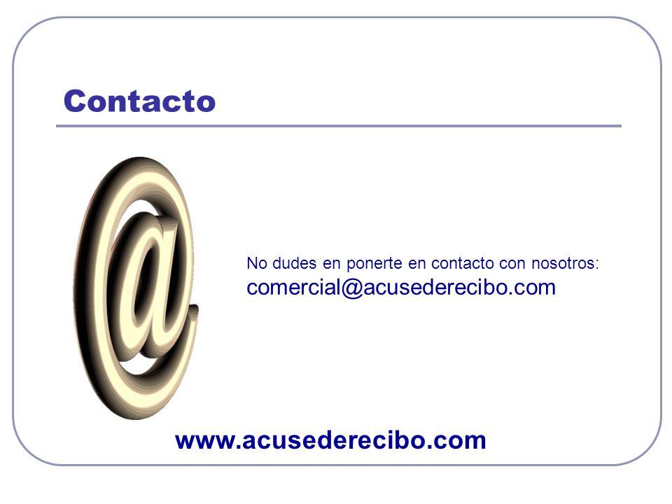 Contacto www.acusederecibo.com comercial@acusederecibo.com