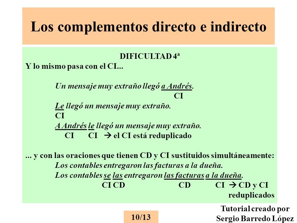 Los complementos directo e indirecto