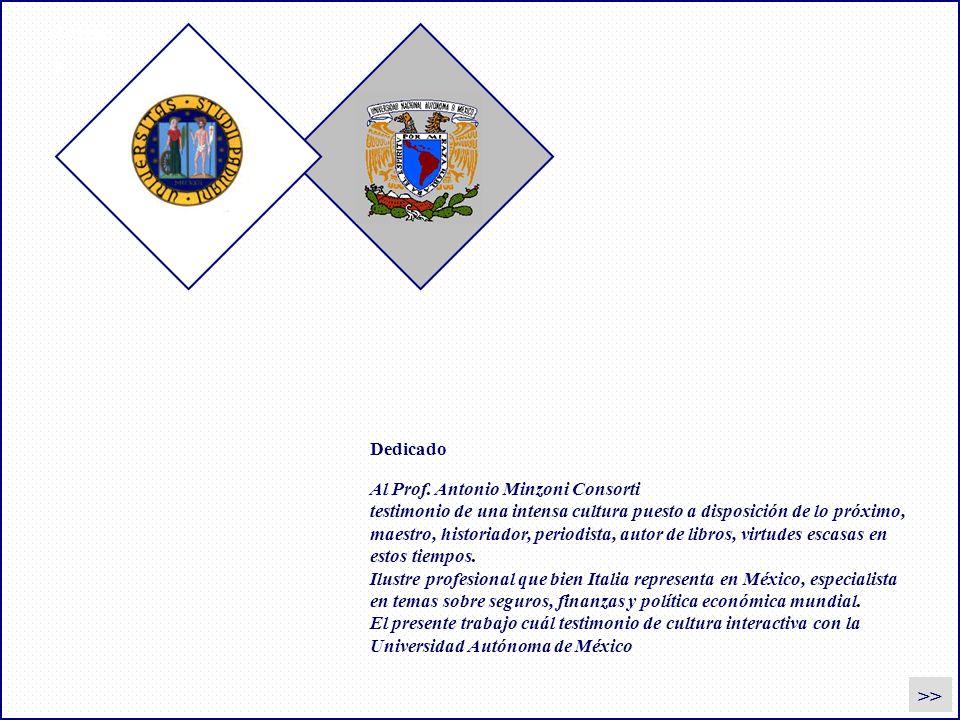 dedica >> Dedicado Al Prof. Antonio Minzoni Consorti