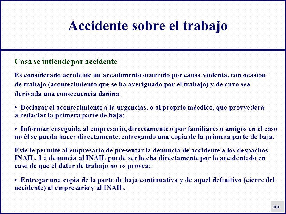 Accidente sobre el trabajo