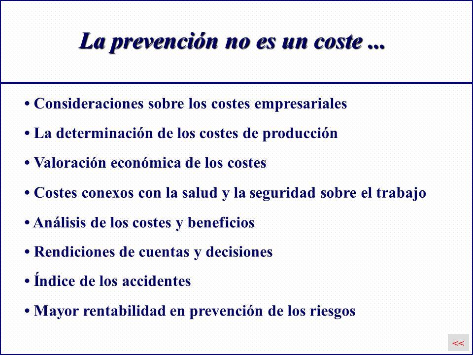 La prevención no es un coste ...