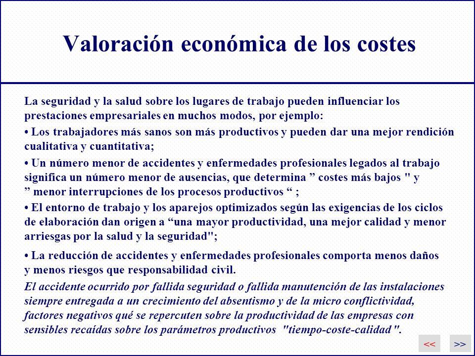 Valoración económica de los costes