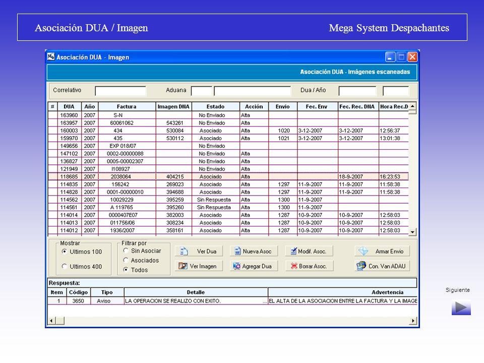 Asociación DUA / Imagen Mega System Despachantes