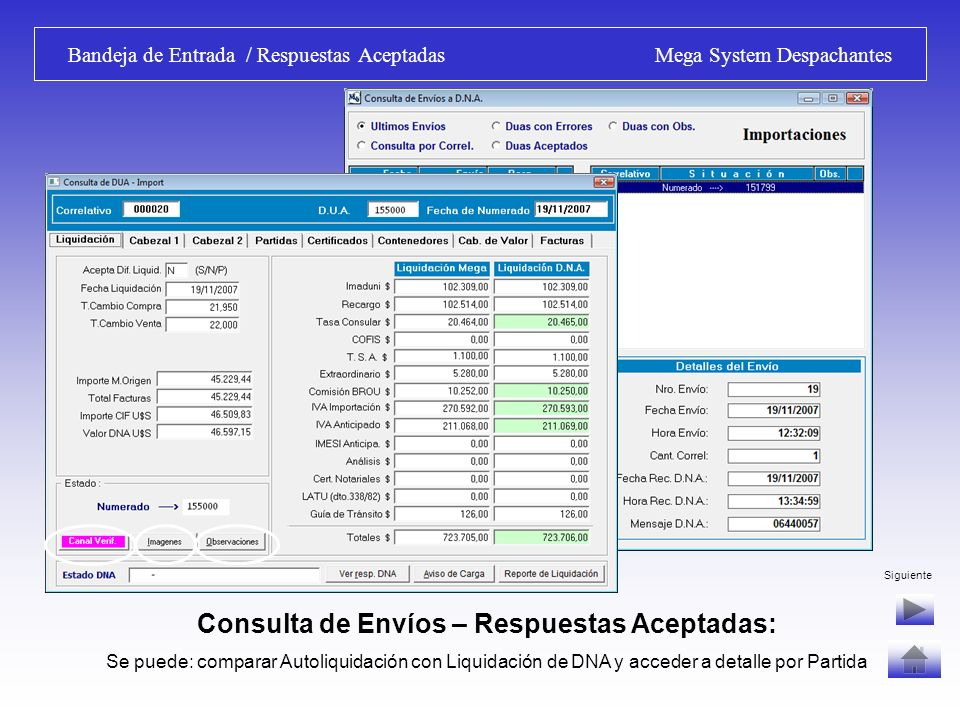 Bandeja de Entrada / Respuestas Aceptadas Mega System Despachantes