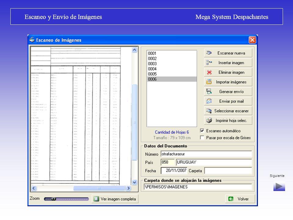 Escaneo y Envío de Imágenes Mega System Despachantes