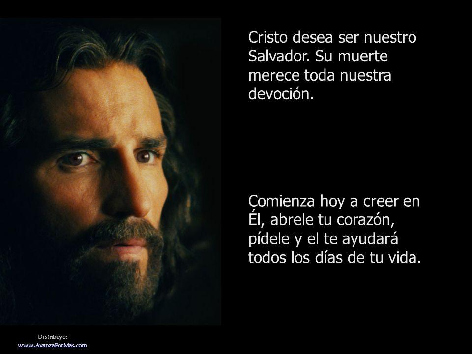 Cristo desea ser nuestro Salvador