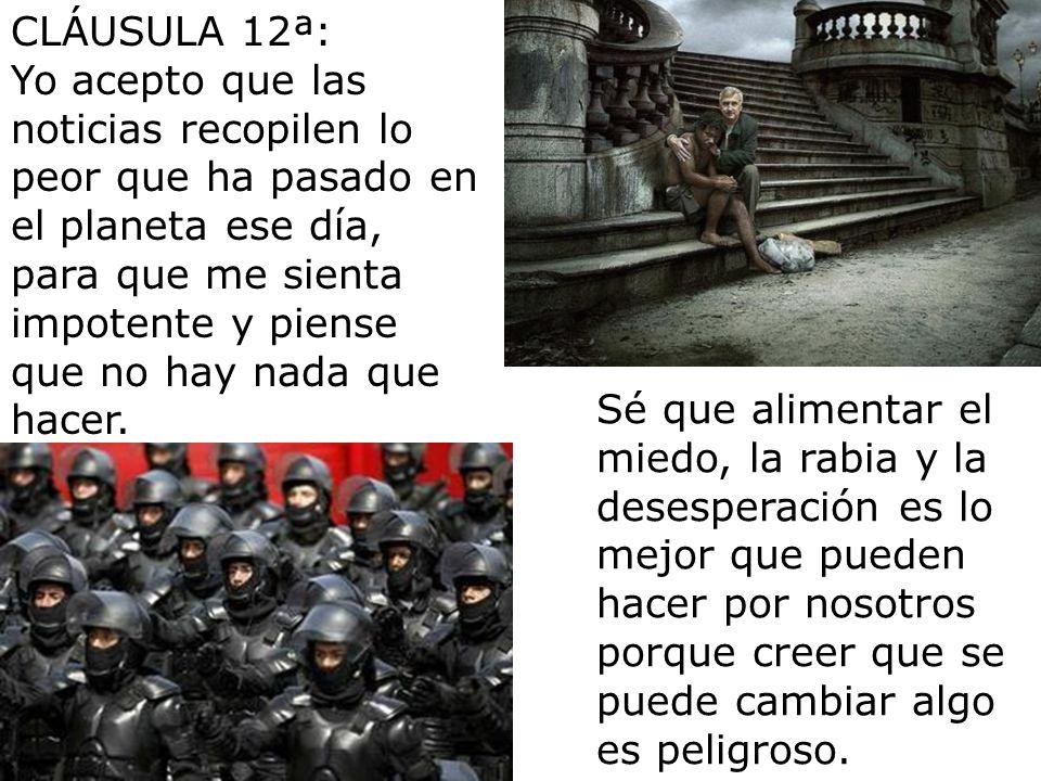CLÁUSULA 12ª: