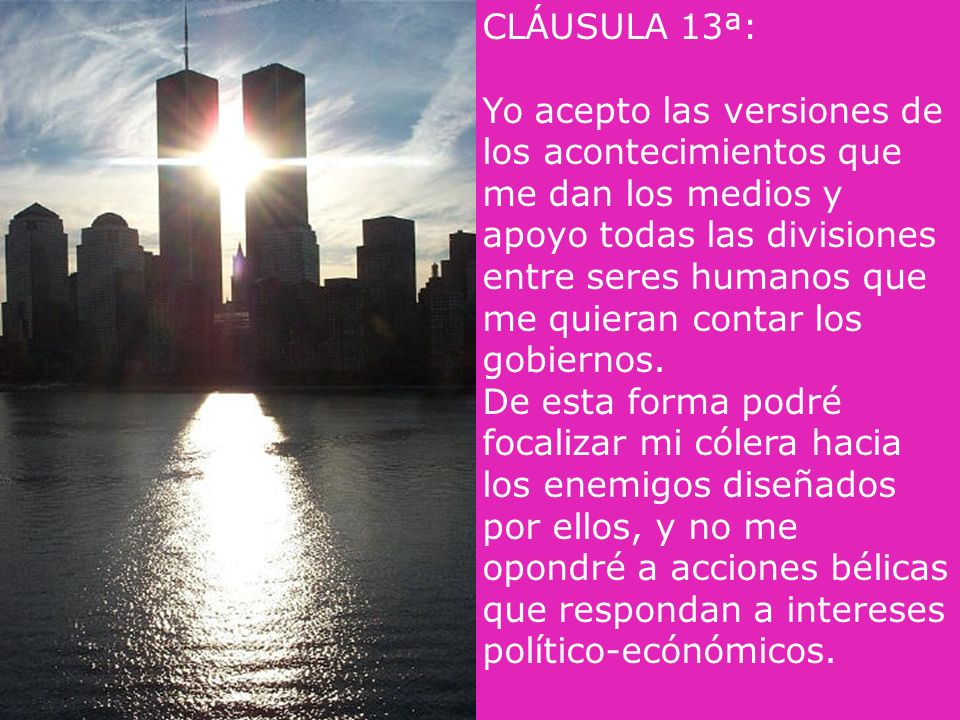 CLÁUSULA 13ª: