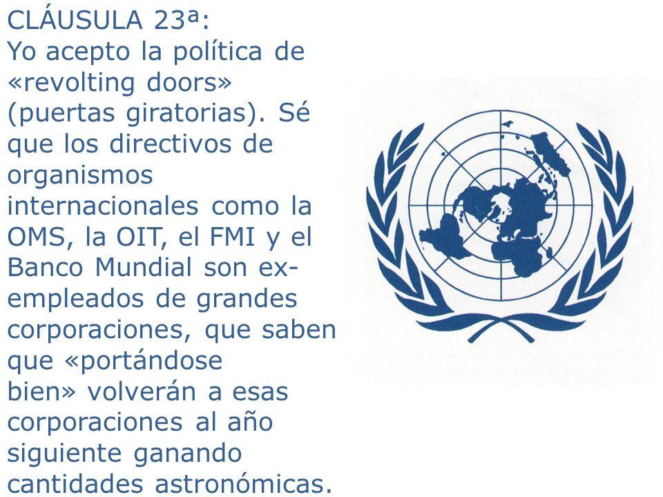 CLÁUSULA 23ª: