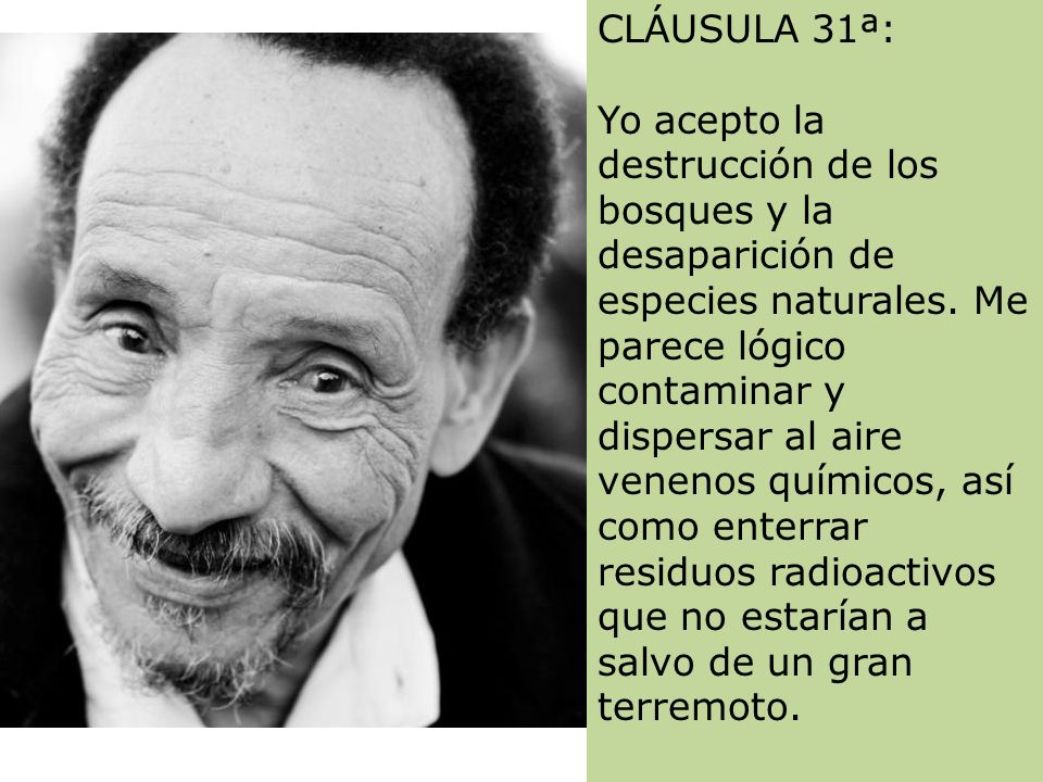 CLÁUSULA 31ª: