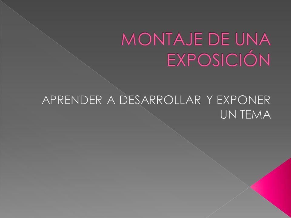 MONTAJE DE UNA EXPOSICIÓN