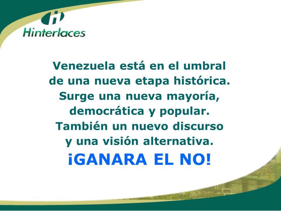 ¡GANARA EL NO! Venezuela está en el umbral