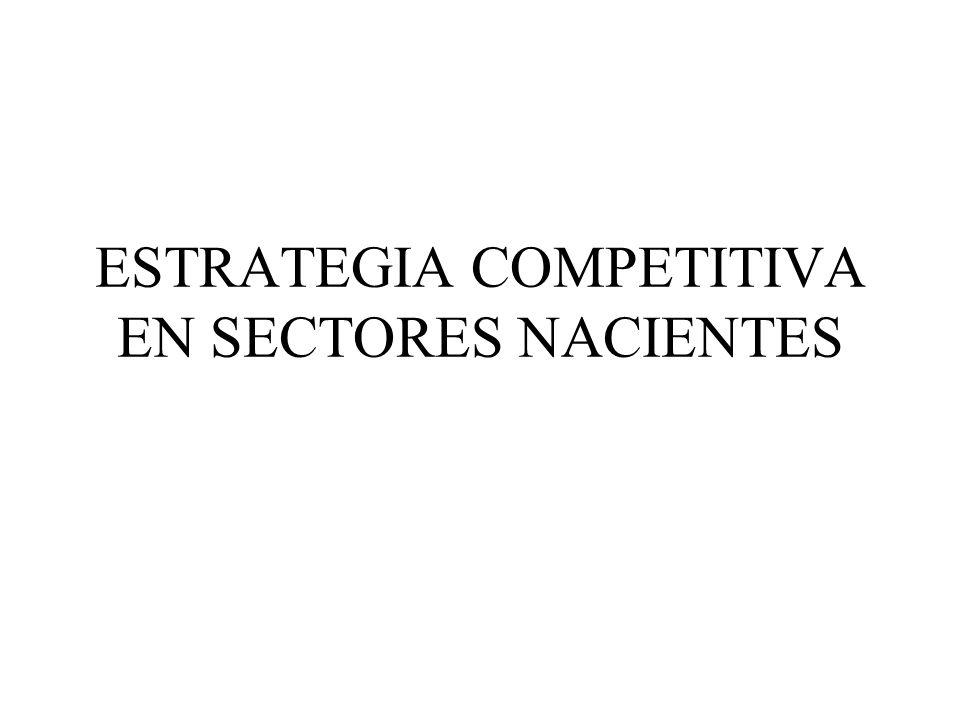 ESTRATEGIA COMPETITIVA EN SECTORES NACIENTES