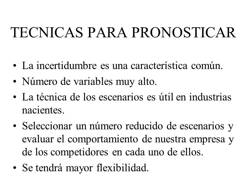 TECNICAS PARA PRONOSTICAR