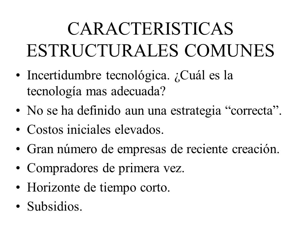 CARACTERISTICAS ESTRUCTURALES COMUNES