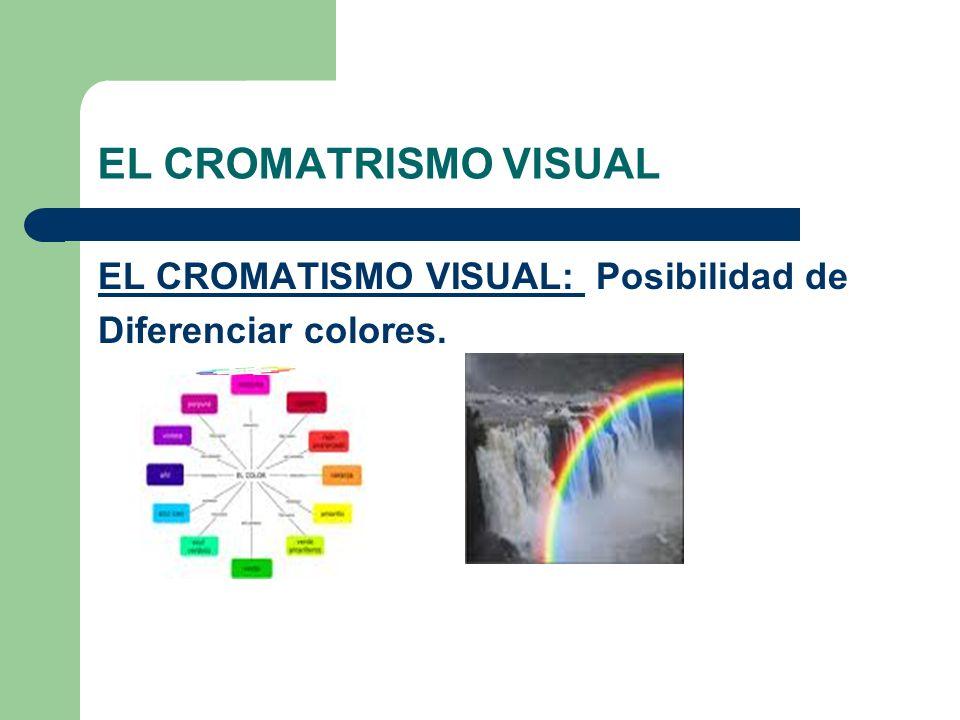 EL CROMATRISMO VISUAL EL CROMATISMO VISUAL: Posibilidad de