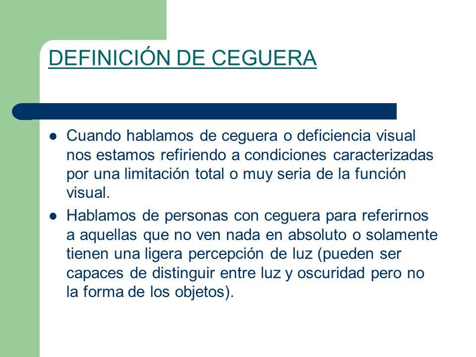 DEFINICIÓN DE CEGUERA