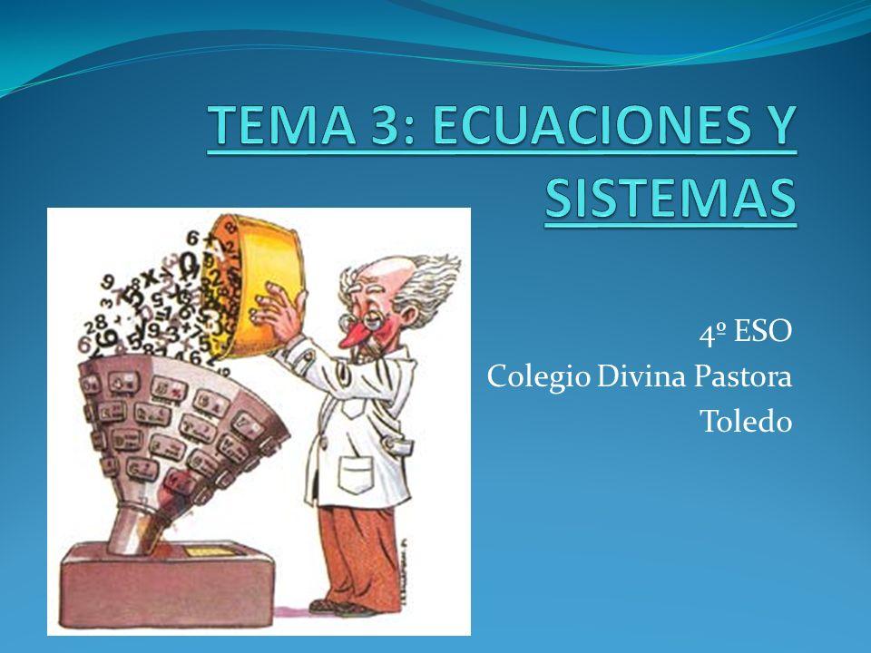 TEMA 3: ECUACIONES Y SISTEMAS