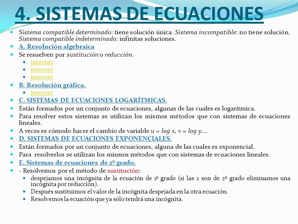 4. Sistemas de ecuaciones