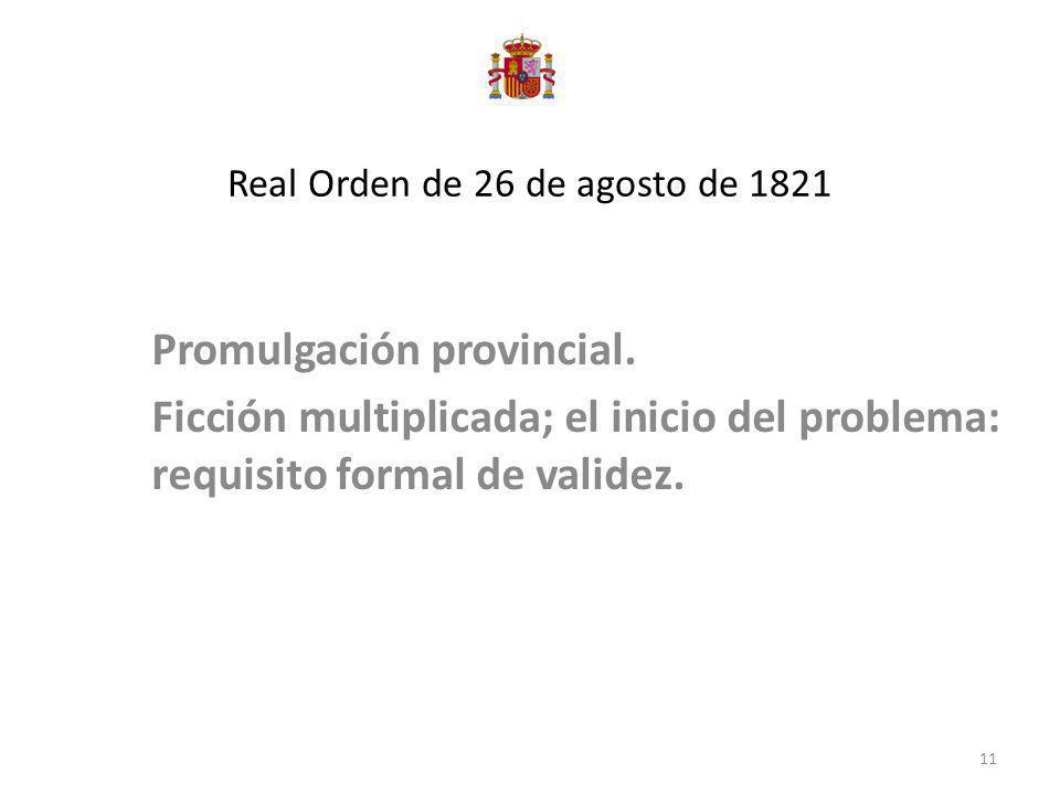Real Orden de 26 de agosto de 1821