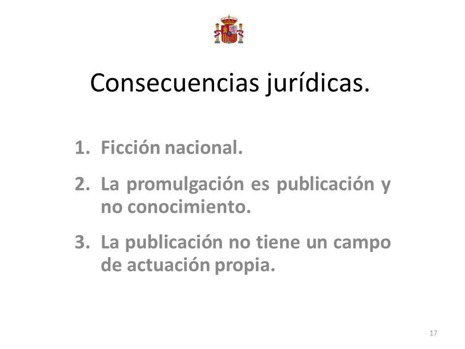 Consecuencias jurídicas.
