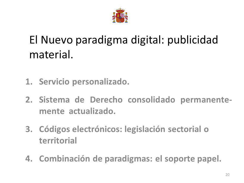 El Nuevo paradigma digital: publicidad material.