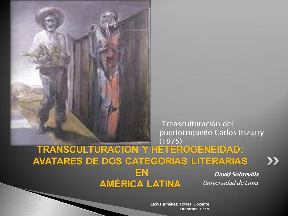 Transculturación del puertorriqueño Carlos Irizarry (1975)