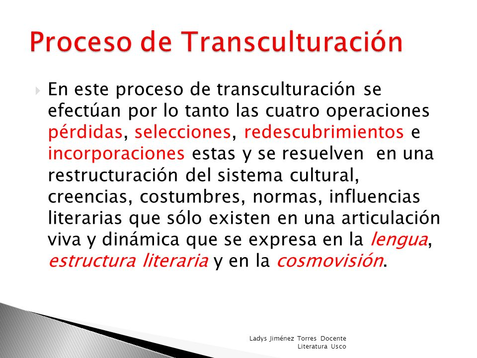 Proceso de Transculturación