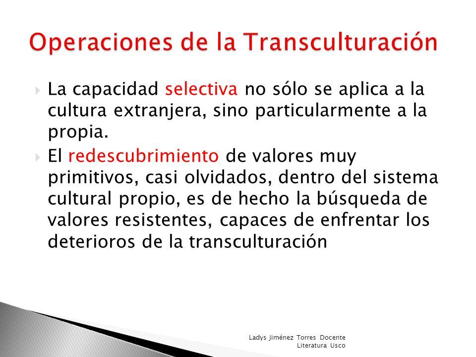 Operaciones de la Transculturación