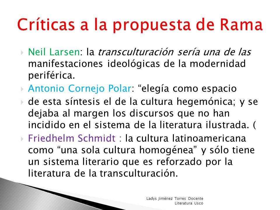 Críticas a la propuesta de Rama