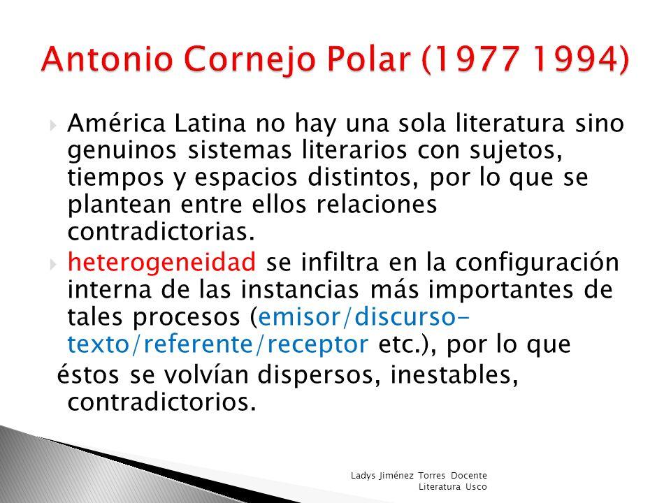 Antonio Cornejo Polar (1977 1994)