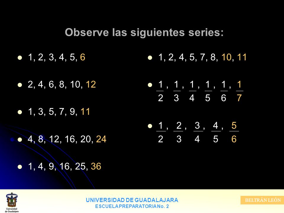Observe las siguientes series: