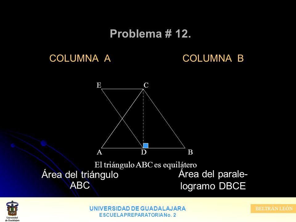 El triángulo ABC es equilátero
